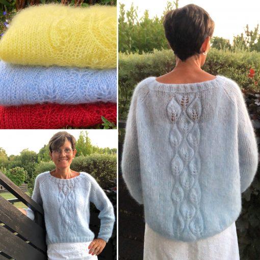 Strikkeoppskrift til salgs, florlett genser. AL VI by Janicke