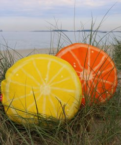 Sitron og appelsin puter i merinoull.