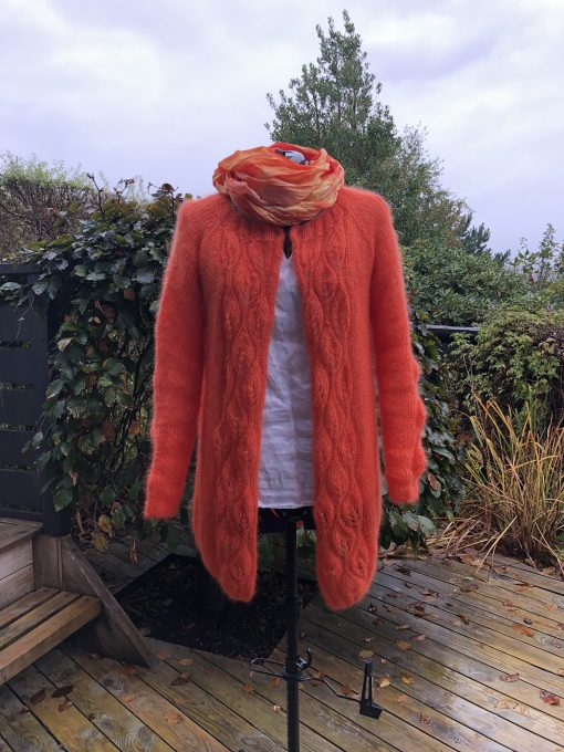 Marit florlette jakke, orange variant 2